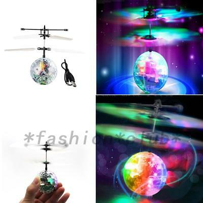 Infrared Induction Flying Flash Colorful LED Ball Helicopter Educational Toy