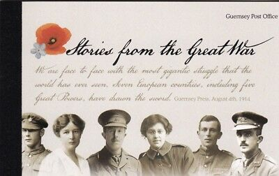 Guernsey SB102 Stories from the Great War l Prestige Book fv = £14.92