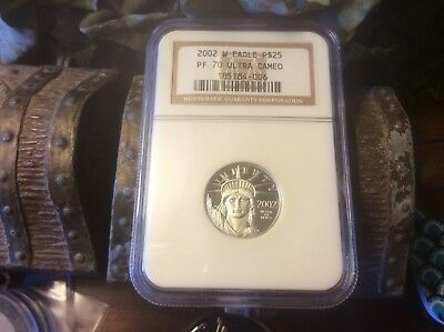 2002-W NGC PF70 1/4 oz Proof Platinum Eagle $25 @@ Must See @@