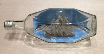 Vintage Ship in a Bottle Diorama Nautical