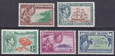 Pictairn 1940  part set of 5 mint hinged