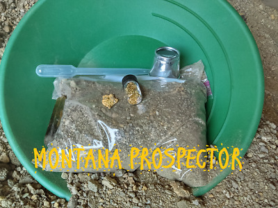 Montana Gold Nugget Pay Dirt Approximately 25-30lbs OF RICH PAYDIRT#323