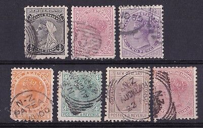 New Zealand 1882/1900 collection of 7 used