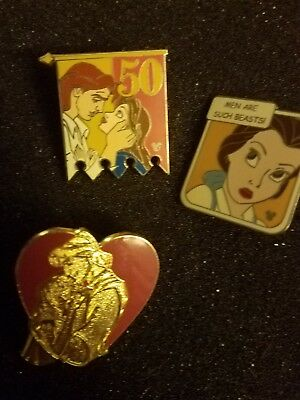 Disney Pins, Beauty and the beast, pocahontas