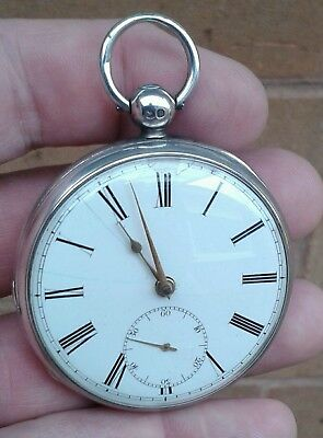"""Early Antique Solid Silver """"d.taylor Of Diss"""", Fusee Pocket Watch, London 1837."""