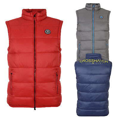 Crosshatch Mens Awesleeve Designer Gilet Lightweight Padded Zip Up Bodywarmer