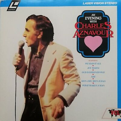"""Musik Laserdisc """" CHARLES AZNAVOUR - AN EVEING WITH """""""