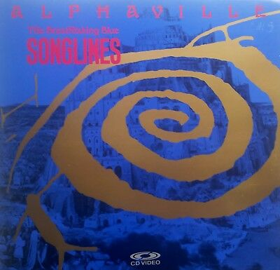 "Music Laserdisc "" ALPHAVILLE - THE BREATHTAKING BLUE SONGLINES""   RARE"