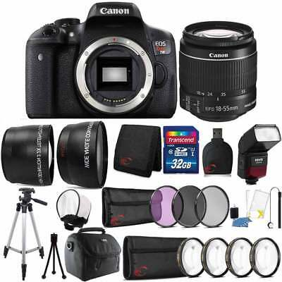 Canon EOS Rebel DSLR T6 18MP Camera with 18-55mm Lens and 32GB Accessory Bundle