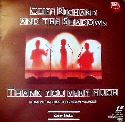 "Music Laserdisc "" CLIFF RICHARDS & THE SHADOWS - THANK YOU VERY MUCH ""   RARE"