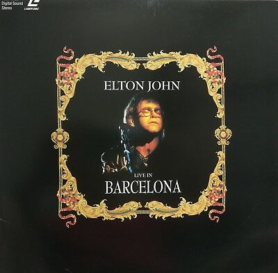 "Music Laserdisc "" ELTON JOHN - LIVE WORLD TOUR 1992 ""   RARE"