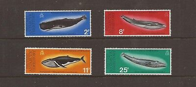 Bat 1977 Whales Mnh Set Of Stamps