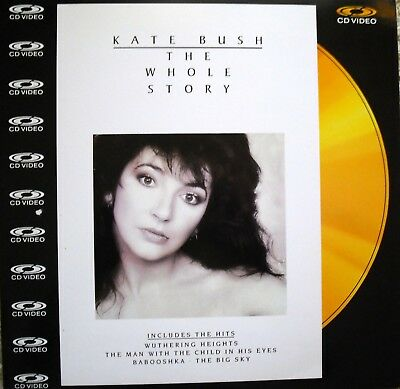 "Music Laserdisc "" KATE BUSH - THE WHOLE STORY ""  RARE"