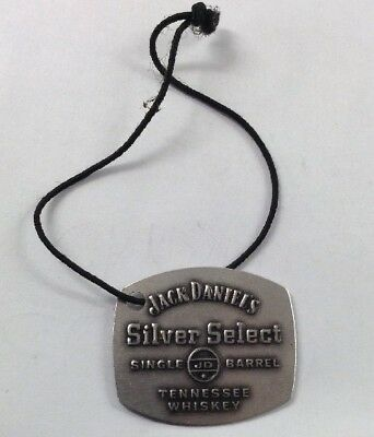Jack Daniels Silver Select Single Barrel Tennessee Whiskey Thin Metal Bottle Tag