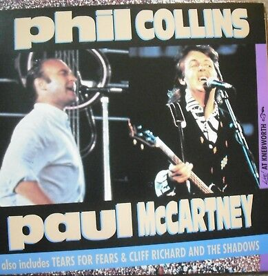 "Music Laserdisc "" KNEBWORTH - PHIL COLLINS & PAUL MCCARTNEY ""  RARE"