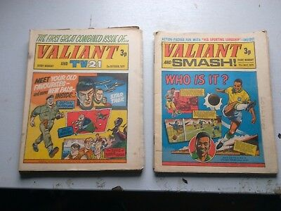 Valiant And Smash/tv 21 Comics    13  Issues From 1971