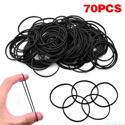 Tattoo Machine Supplies of 70pcs Standard Black Tattoo Rubber Bands f43r