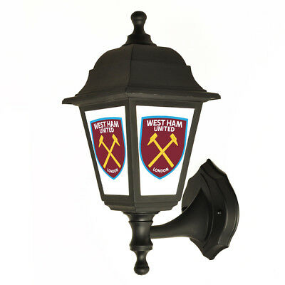 West Ham United F.C. Backlit Sign Outside Wall Light, Lantern, Lamp Sign Hammers