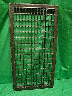 Huge Vintage 1920S Iron Heating Return Grate Rectangular Design 32.25 X 16.5 A