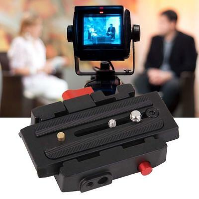 Clamp& Quick Release QR Plate For Tripod Ball Head Manfrotto 501 500AH 701HDV RA