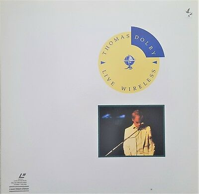 "Music Laserdisc "" THOMAS DOLBY - LIVE WIRELESS ""  RARE"