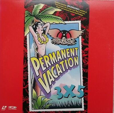 "Music Laserdisc "" AEROSMITH - PERMANENT VACATION ""  RARE  JAPAN NTSC NO OBI"