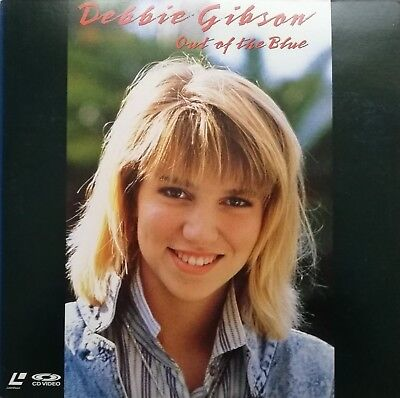"Music Laserdisc "" DEBBIE GIBSON - OUT OF THE BLUE ""  RARE  JAPAN NTSC NO OBI"