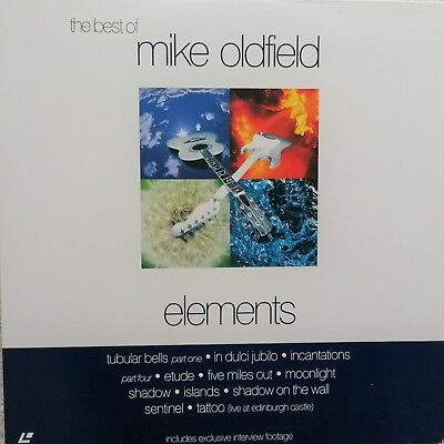 "Music Laserdisc "" MIKE OLDFIELD - ELEMENTS ""  RARE  JAPAN NTSC NO OBI"