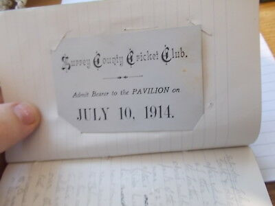1914 HAND WRITTEN ALBUM HOLIDAY TO BALCOMBE,SUSSEX.SOME GOOD RARE ITEMS.see pics