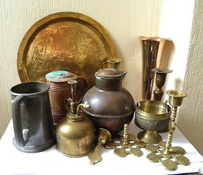 Job Lot of Vintage Brass and Metal Collectibles