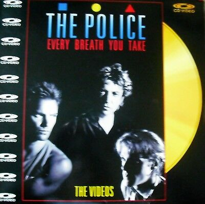 """Music Laserdisc """" THE POLICE - EVERY BREATH YOU TAKE """""""