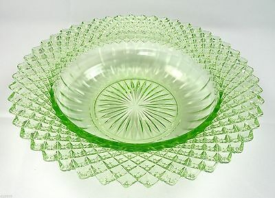 Hocking Glass Cereal Bowl Miss America Green Depression Glass 6""