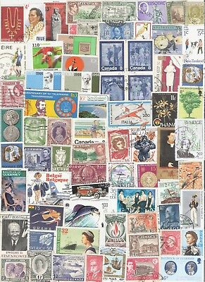 250 different world stamps, mainly larger size