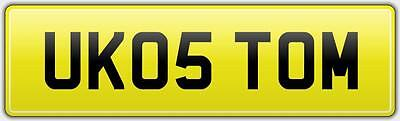 THOMAS PRIVATE UK REG NUMBER PLATE UK05 TOM NO HIDDEN FEES Tommy Tomy Tommo Toms