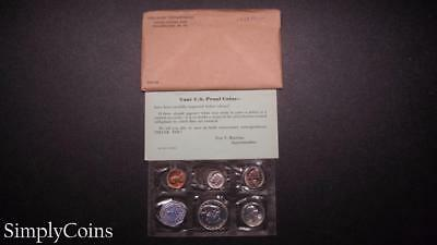 1958 Proof Set ~ Original Envelope With COA ~ US Mint Silver Coin Lot SKU-649