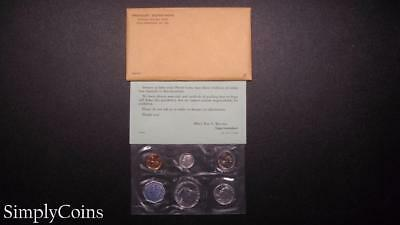 1960 Proof Set ~ Original Envelope With COA ~ US Mint Silver Coin Lot SKU-656