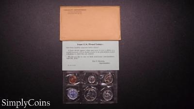 1958 Proof Set ~ Original Envelope With COA ~ US Mint Silver Coin Lot SKU-650