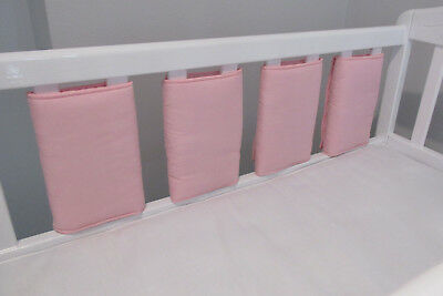 New Babies  💖 Baby PInk Cot bar bumpers 💖 Pack of 8