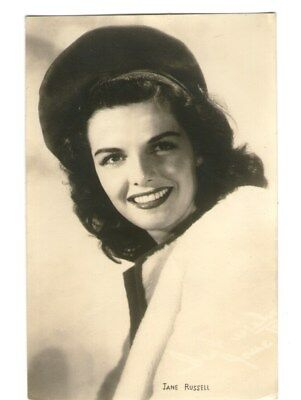 Jane Russell vint great headdres beautiful Photo Postcard from Japan
