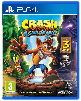 Videogioco Crash Bandicoot N Sane Trilogy Ps4 Gioco Playstation 4 Italiano Pal