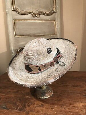 ANTIQUE c.1850 SOUTHWESTERN NAVAJO INDIAN TRIBE MEXICAN SOMBRERO HAT