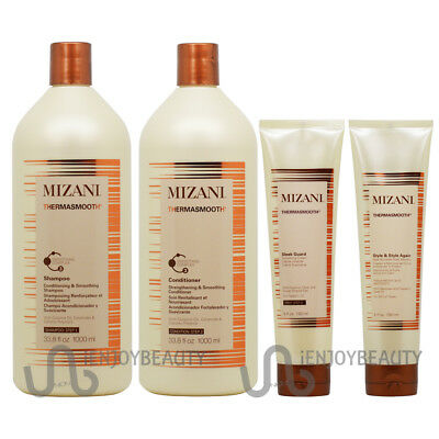 "Mizani Thermasmooth 4 Pieces ""Set""- NEW LOOK w/Body Oil"