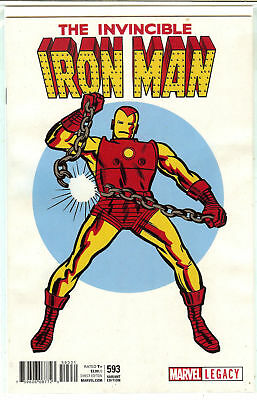 Invincible Iron Man #593 Jack Kirby T-Shirt Variant Marvel Legacy 2017 NM HOT!
