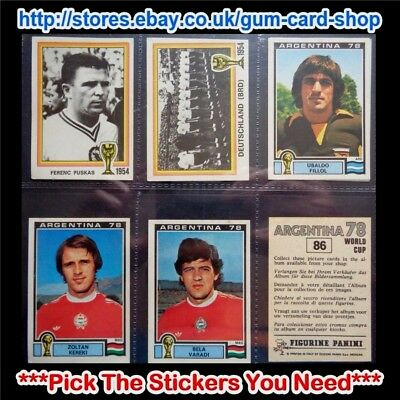 Panini Argentina 78 (Good) ***pick The Stickers You Need***