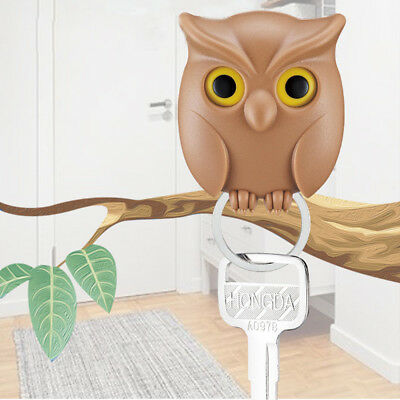 Practical Owl Key Holder Wall Mounted Magnetic Key Holder Home Decor Creative BW