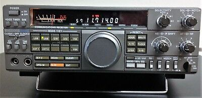 Kenwood R 5000 Communications Receiver with boxed VC20 VHF Converter Unit.