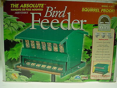 Heritage Farms 7533 Absolute Squirrel Proof Wild Bird Feeder LARGE CAPACITY
