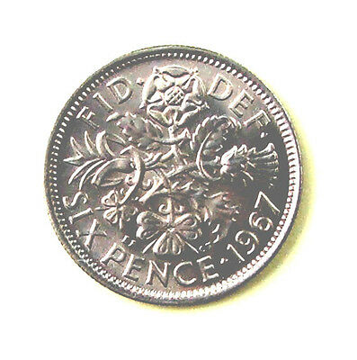 Sixpence 1967 Elizabeth II. Direct From (Bank) Mint Bag. Brilliant Uncirculated