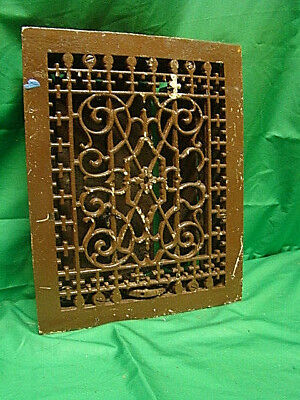 Antique Late 1800's Cast Iron Heating Grate Unique Ornate Design 13.75 X 11 Rty
