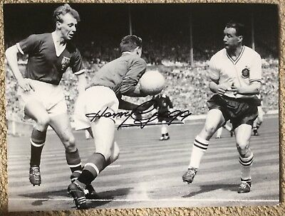 Harry Gregg Original Football Autograph Manchester United Busby Babe On Photo